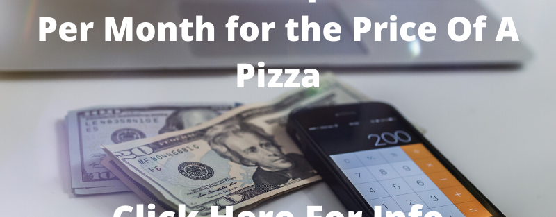 $20,000 PER MONTH FOR THE PRICE OF A PIZZA!